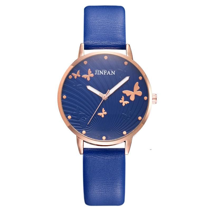 Elegant Simple Butterfly Design Dial Design Ladies Watches Women Fashion Luxury Dress Watch Casual Woman Quartz Leather Clock