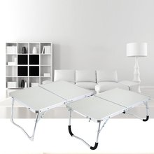 цена на 6 Color Laptop Double-Folding Square Computer Table Folding computer table PC Laptop Steel Table Writing Workstation Home Office