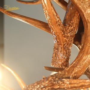 Image 4 - נורדי LED נברשת E14 תליון מנורת תאורה Hanglamp תעשייתי באק קרן צבי קרן צבי שינה סלון מטבח גופי