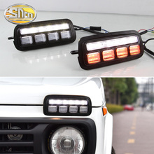 2Pcs Car Styling Accessories LED Daytime Running Lights for Lada Niva 4x4 1995  2019 Turn Signal Light Lamp DRL Tail lights