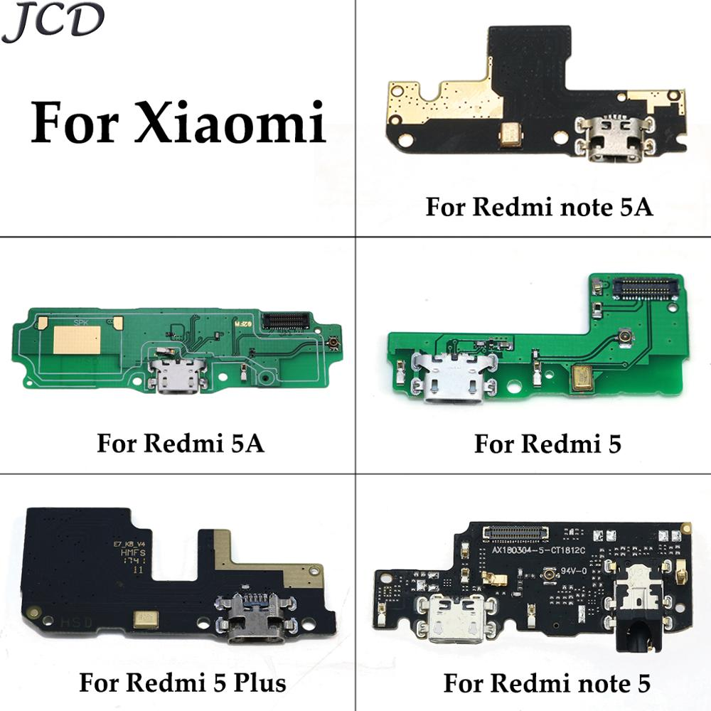 JCD Tested For Xiaomi Redmi 5A 5 Plus Note 5 5A Note5 USB Charging Port Board Flex Cable Connector Parts With Microphone Module