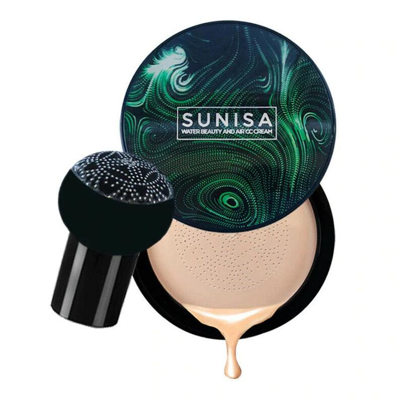 Pilz Kopf Air Kissen CC Creme Natürliche Aufhellung Make-Up BB Creme mit Bombe Schwamm Kopf Feuchtigkeits Fundament Concealer