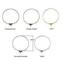 20 шт Металлические Проволочные круглые серьги с бусинами обручи