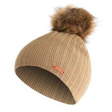 Jaycosin детские зимние шапки для женщин, шерстяные детские мешковатые теплые вязаные крючком зимние шерстяные вязаная Лыжная шапка с черепом