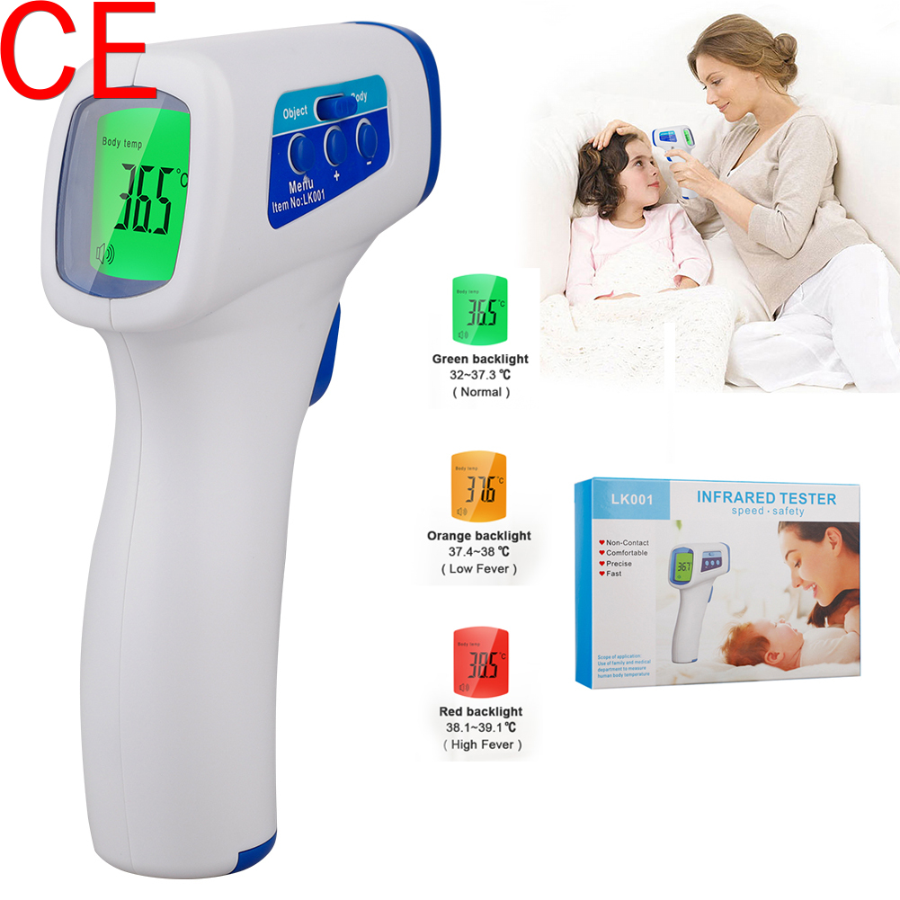 Muti-fuction Baby/Adult Digital Termomete Infrared Laser Forehead Body Digital Gun Non-contact Temperature Measurement Device