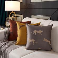 Taie d'oreiller léopard léger, modèle de luxe, support de coussin pour canapé, salon, lombaire, baie vitrée, 45x45cm, taie d'oreiller