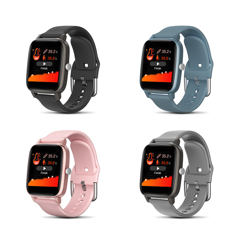 T98 Color Screen Body Temperature Smart Watch Heart Rate Blood Pressure Monitor Watches Sports Fitness Smartwatch For Men Women