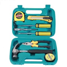 Small 9-piece Set of Emergency Tools Safety Hammer Hardware Tool Set Car Home Box Toolbox Repair Simple Combination