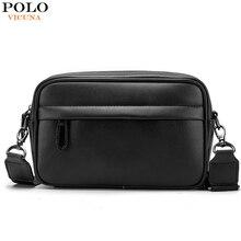 VICUNA POLO ünlü marka deri erkek çantası rahat iş deri çanta seti erkek askılı çanta Vintage Crossbody çanta bolsas erkek