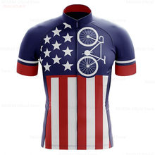 USA 2020 Men Cycling Jersey Pro Fit Road Bike MTB Short Sleeve Breathable Jerseys Summer Breathable Motocross Jersey Triathlon(China)