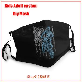 USA DIRT BIKE FLAG mascarilla lavable niños face mask pm 2.5 mascarillas Reusable Anti-dust Protective Face Masks