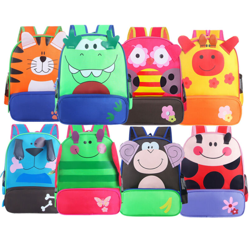 2019 3D 3-6 Year Old School Bags For Boys Waterproof Backpacks Child Cartoon Animal Bag Kids Shoulder Bag