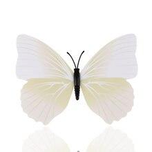 Стена 12 шт/компл Цвета белый 4 бабочка Размеры 3d наклейки