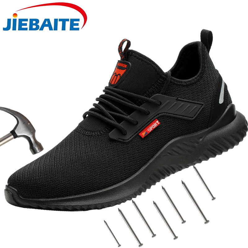 Work Safety Shoes Lightweight Steel Toe Cap Indestructible Shoes Men Women Work Safety Boots Breathable Male Shoes