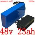 48V батарея 48v 23ah литий-ионный аккумулятор использовать телефон panasonic 48v 23ah Электрический велосипед батарея для 48V 1000W 1500W 2000W электродвигатель ...