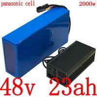 48V 48v 23ah bateria de iões de Lítio uso da bateria panasonic celular 48v 23ah bateria bicicleta elétrica para 48V 1000W 1500W 2000W do motor ebike|Bateria de bicicleta elétrica| |  -