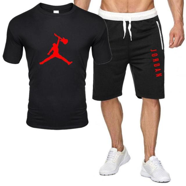 2piece set men outfits jordan 23 t-shirt shorts summer short set tracksuit men sport suit jogging sweatsuit basketball jersey 1