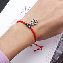 ตุรกี Evil Eye Protection Kabbalah Red String สร้อยข้อมือ Fatima Hand (China)