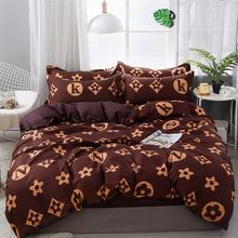 Bedding Set 4Pcs/Set 21Style Bed Sheet Pillowcase & Duvet Cover Sets Stripe Aloe Cotton Home Textile Products