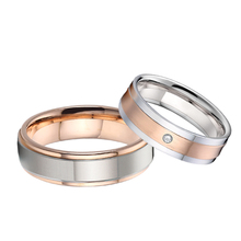 Romantic Lover's Gift His and hers Matching Alliance Marriage Wedding Rings for couple high quality stainless steel finger ring china supplier his and hers gold color titanium wedding band finger rings women