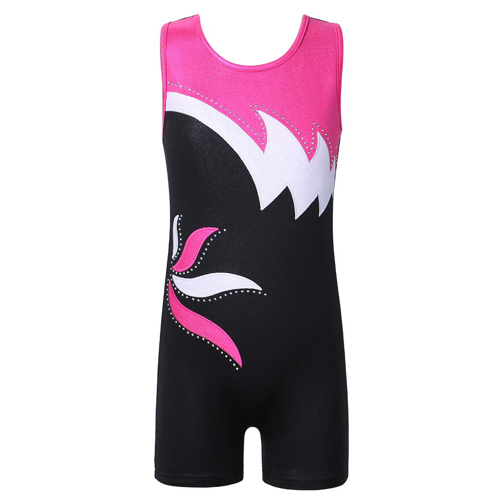 BAOHULU 3-15 Years <font><b>Kids</b></font> Girls Gymnastic Suits Child Sleeveless Sparkly Ballet Dance Leotards Teens <font><b>Gymnastics</b></font> leotard for Girl image