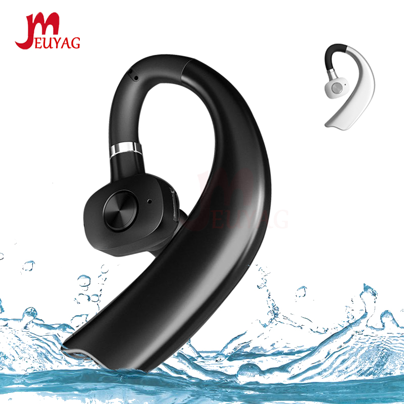MEUYAG Wireless Bluetooth Earphone Stereo Handsfree Business Headset With Mic Noise Control Ear-hook Earphones New For IPhone XR