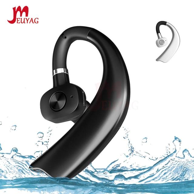 MEUYAG Wireless Bluetooth Earphone Stereo Handsfree Business Headset With Mic Noise Control Ear hook Earphones New For iPhone XR