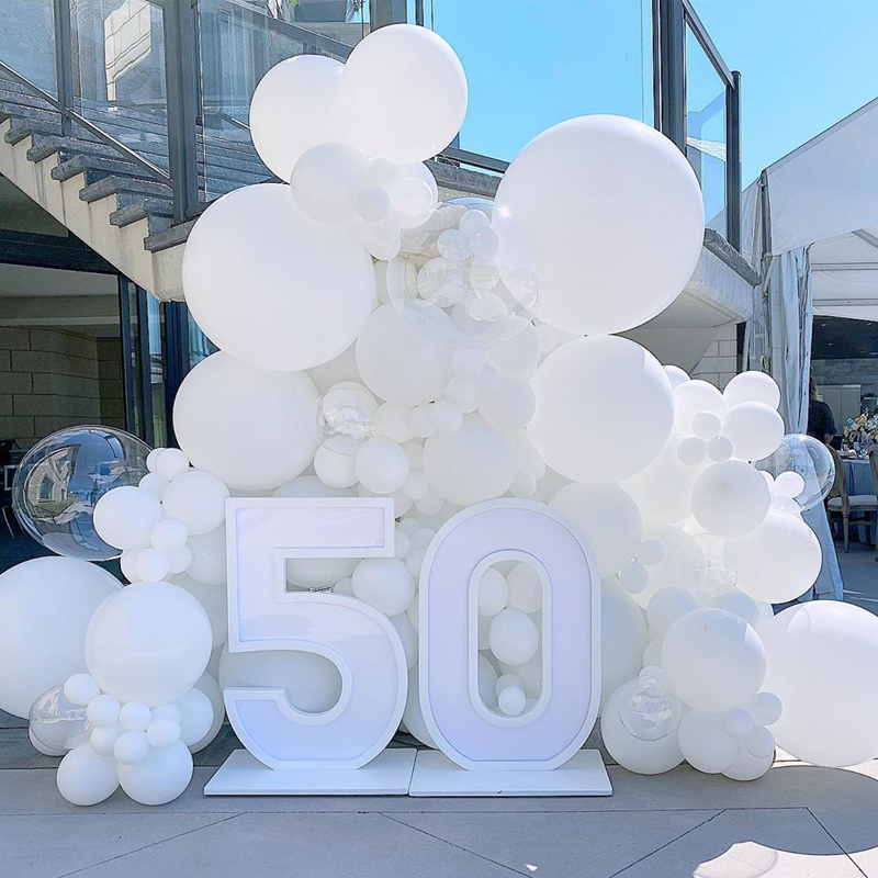 Białe balony 5/10/12/18/36 cala balony na przyjęcie urodzinowe dekoracje ślubne lateksowe balony białe Globos zaopatrzenie firm Whol