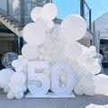 Белые Воздушные шары 5/10/12/18/36 дюйма воздушные шары для дня рождения вечеринки украшения свадебные латексные воздушные шары Белые глобусы то...