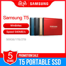 Samsung t5 portátil ssd 500 gb 1 tb 2 tb usb3.1 drives de estado sólido externo usb 3.1 gen2 e compatível para trás para mac
