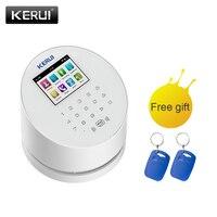 Kerui W2 wifi gsm pstnの警報システム 2.4 インチカラータッチホームセキュリティbuglar警報システム内蔵 80dBでサイレンパネル