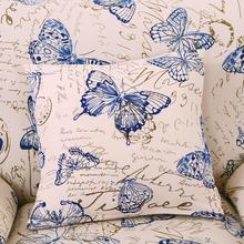 1PC Butterfly Printed Pillowcase Throw Cushion Pillow Cover Printing Cushion Pillow Case Bedroom Office Letter Pillowcase
