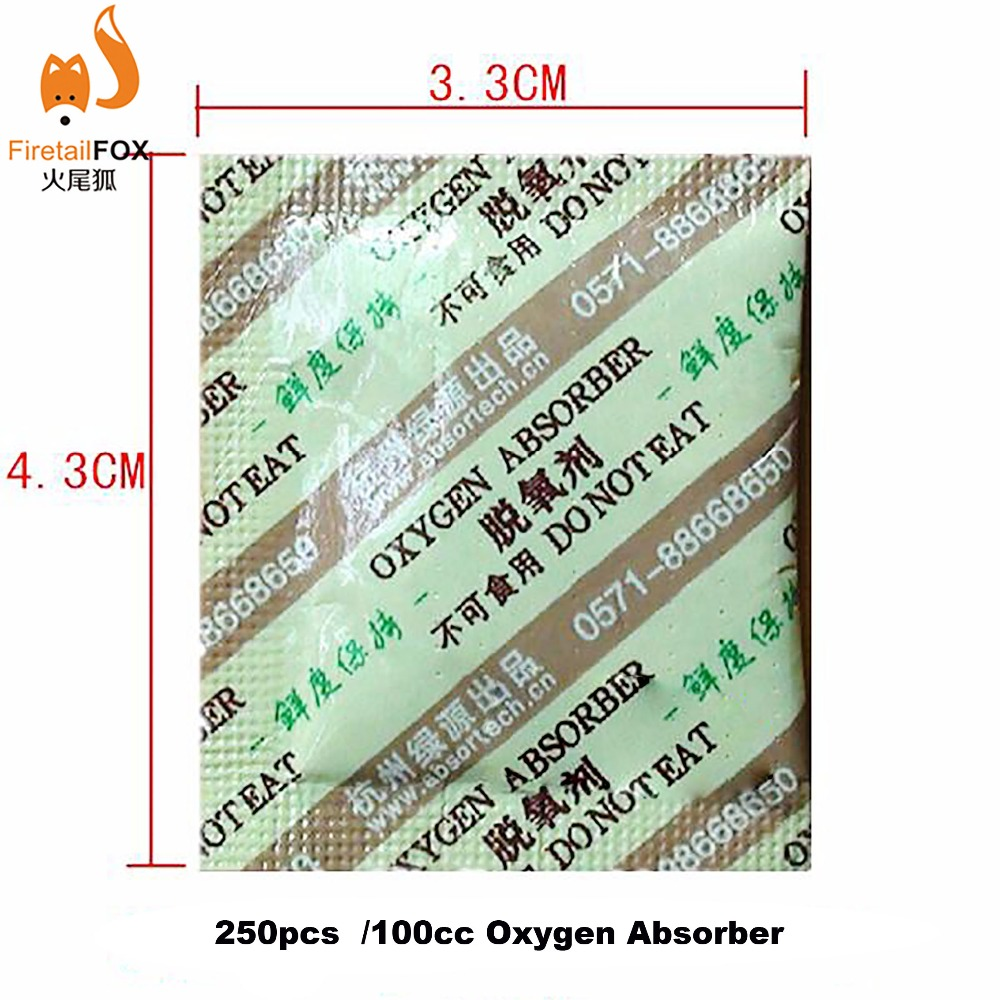 250 Bags Of 50cc Oxygen Absorbers Food Grade CO2 Absorbers