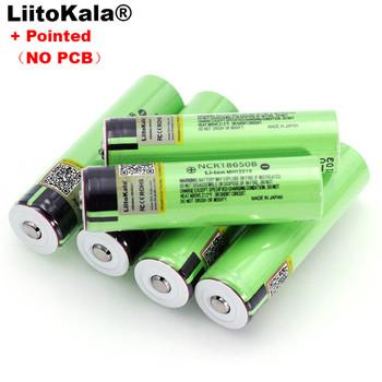 Liitokala nowy akumulator litowy NCR18650B 3 7v 3400 mAh 18650 ze spiczastymi bateriami (bez PCB) tanie i dobre opinie Li-ion 3001-3500 mAh CN (pochodzenie) Tylko baterie Pakiet 1 1-10PCS 67*18 5MM