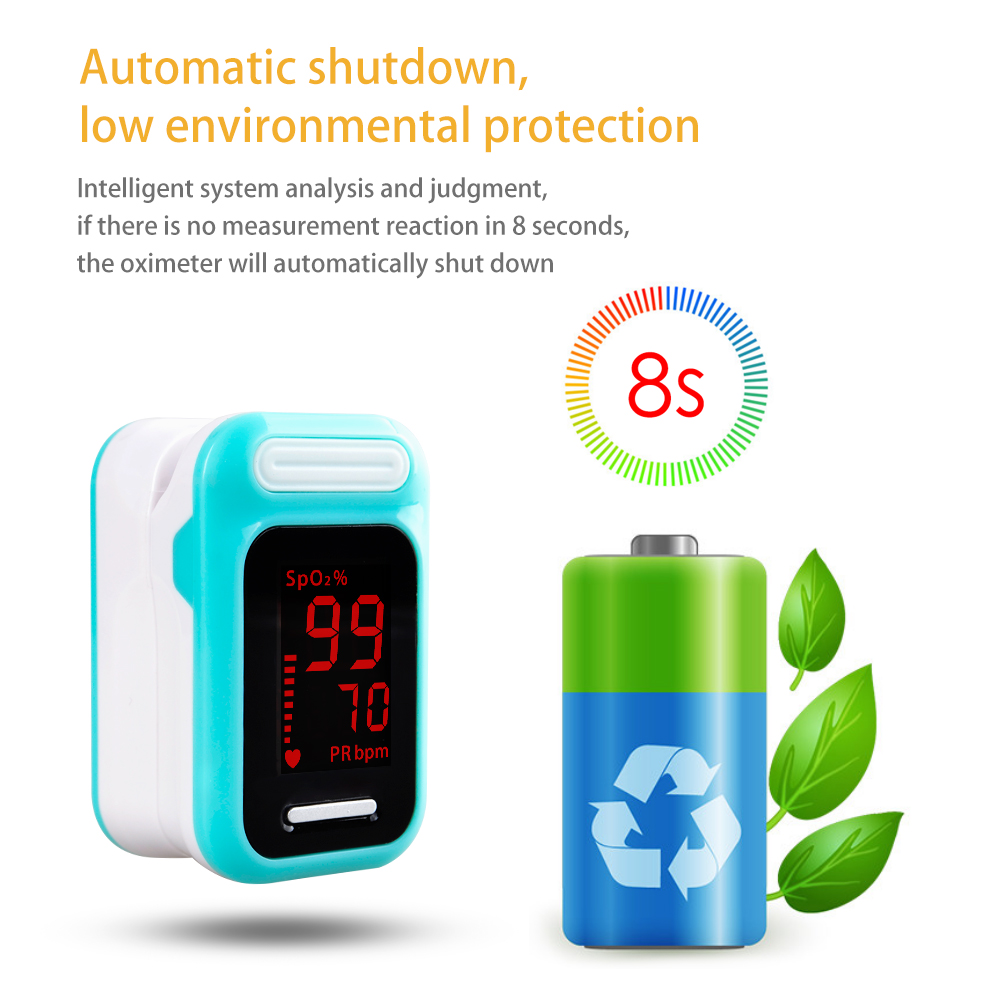 ELERA Finger Pulse Oximeter with OLED Display to calculate Blood Oxygen Saturation 19