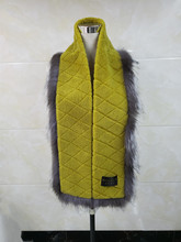 Ms. scarf warm fashion casual suitable for work out with fur wearing soft and comfortable autumn winter windproof