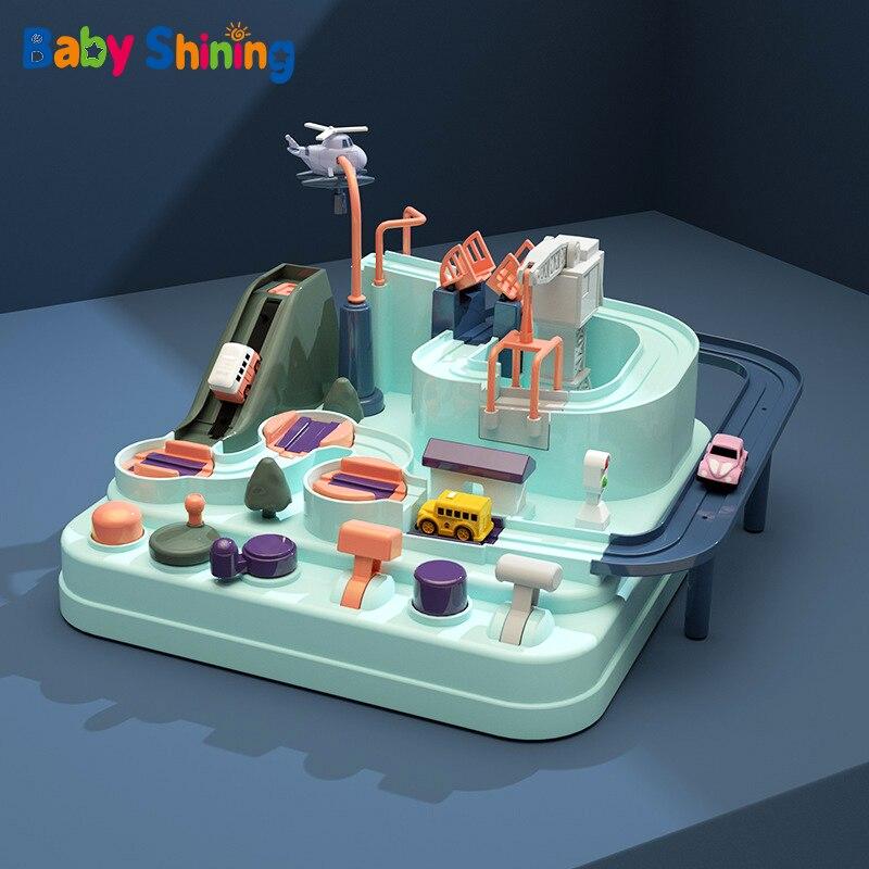 Bebê Brilhando Vagão de Brinquedo Educação Bebê Eco Aventura Macaron Cor Carro de Brinquedo Jogos de Mesa Menino e Menina Brinquedos Puzzle