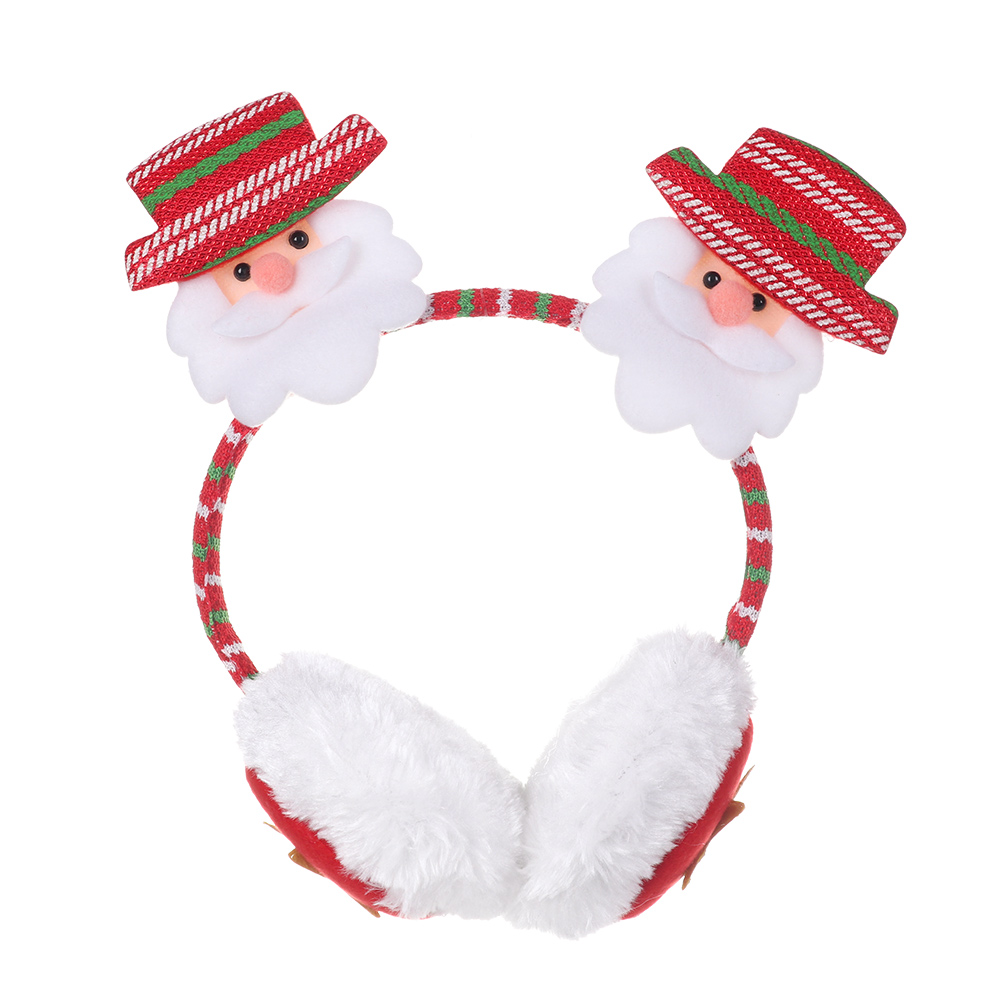 Christmas Gift Cute Cartoon Winter Warm Christmas Earmuffs Thicken Warm Cotton Ear Muffs Ear Protection Keep Ear Warm