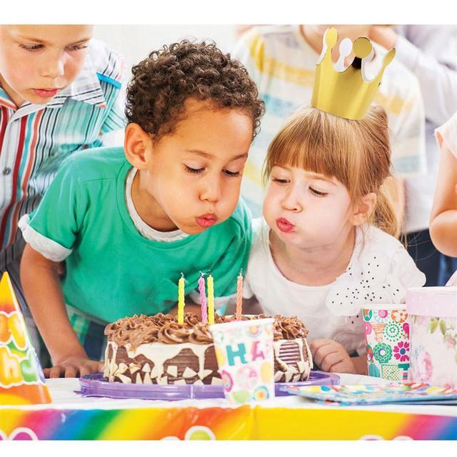 ANGRLY 10pcs 어린이 파티 생일 모자 축제 파티 크라운 헤드 기어 생일 파티 장식 축제 파티 용품 Accessorie