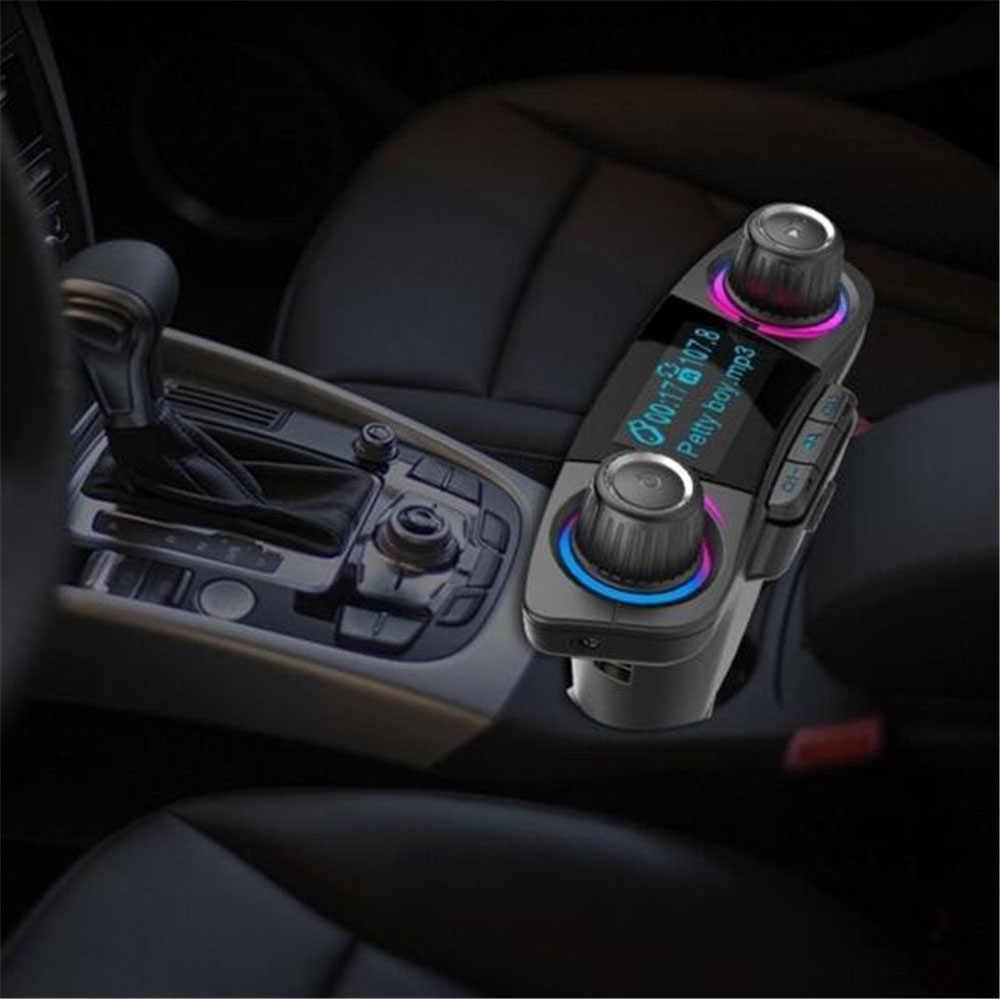 FM トランスミッタ Aux 変調器の Bluetooth ハンズフリーカーキット車オーディオ MP3 プレーヤースマート充電デュアル USB 車の充電器