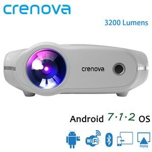 Image 1 - CRENOVA XPE498 โปรเจคเตอร์พกพาสำหรับ Full HD 4K * 2K 3200 Lumens โฮมเธียเตอร์ Beamer Android 7.1.2OS Proyector
