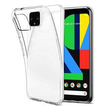 Caso claro de TPU Macio Para Google Pixel 4 5 3A 3 2 XL Tampa Do Telefone Do Silicone Para O Google Pixel 4 5 4A Pixel4 Pixel3 Pixel2 3A Caso XL