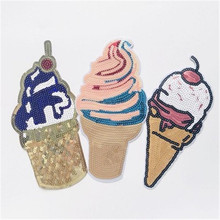 New ice cream women's cloth stickers wild beads ice cream women's patch pillows decals home clothing accessories