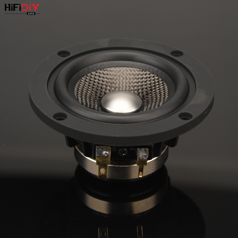 HIFIDIY LIVE Neodymium 3.7 Inch 93mm Full Frequency Speaker Unit 4OHM30W High Alto Bass Loudspeaker P3-93N Titanium Carbon Fiber
