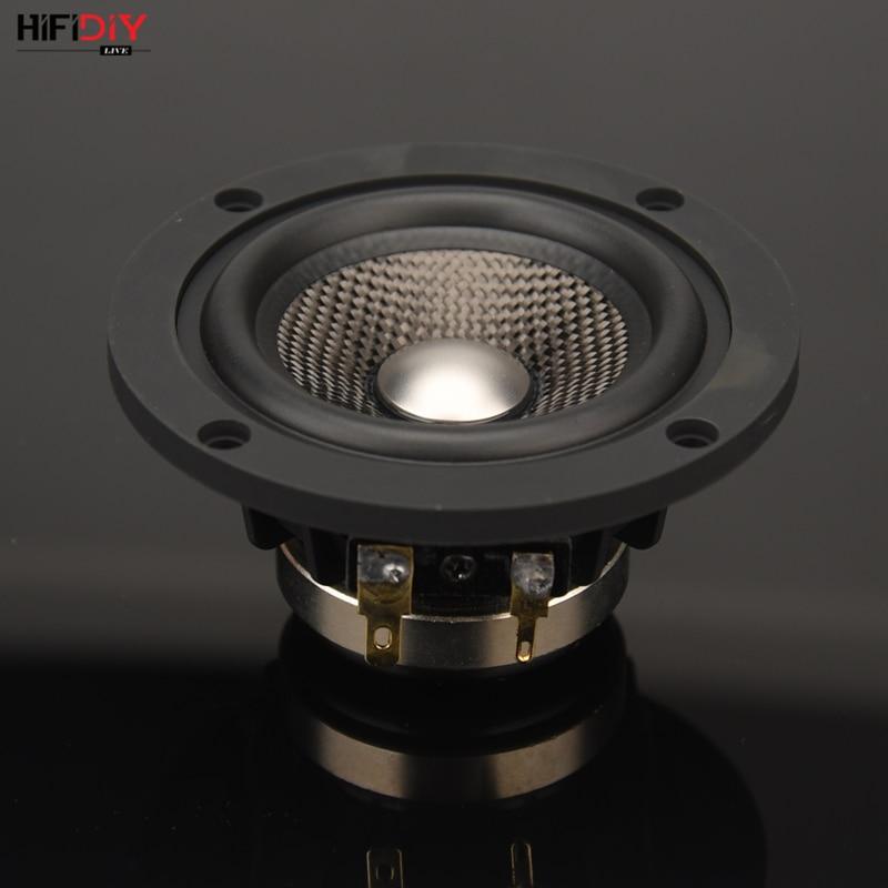 HIFIDIY LIVE neodymium 3.7 inch 93mm Full frequency speaker unit 4OHM30W High Alto bass loudspeaker P3-93N Titanium carbon fiber