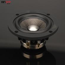 HIFIDIY LIVE neodymium 3.7 inch 93mm Full frequency speaker unit 4OHM30W High Alto bass loudspeaker P3 93N Titanium carbon fiber