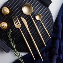 Stainless Steel Dinner Set Cutlery Luxury Knife Fork Spoon Dessert Dinnerware Western Food Tableware цена и фото