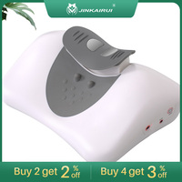 Upgrade Wireless Control Rise and Drop Traction Cervical Vertebra Pillow Warm Hot Moxibustion Best Gift for Whole Family