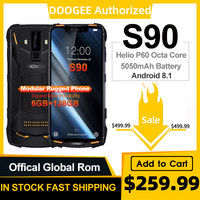 IP68/IP69K DOOGEE S90 Modular Rugged Mobile Phone 6.18inch Display 5050mAh Helio P60 Octa Core 6GB 128GB Android 8.1 16.0M Cam|Cellphones| |  -