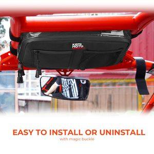 Image 2 - KEMiMOTO Overhead Storage Bag For Can Am Maverick X3 UTV Bag Over head Roof tent Bag 2017 2018 2019 2020 2021